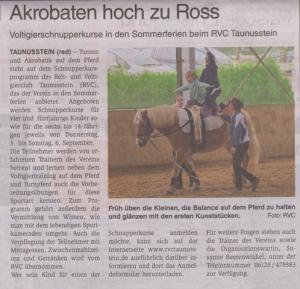 2015_UT-Wochenblatt-Ank_Sommerschnupperkurs