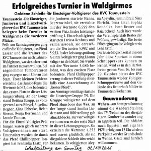Lokalzeitung am Sonntag am 02.10.2016